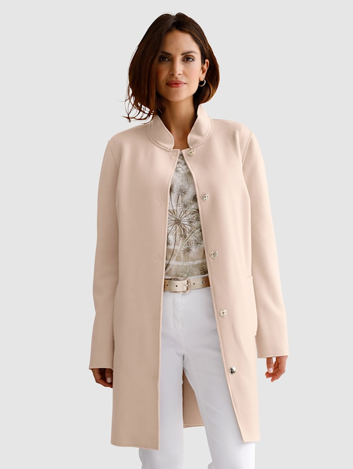 MONA Jacket made from double face fabric, Beige