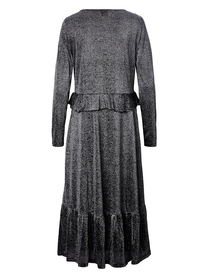 Jerseykleid mit Lurex