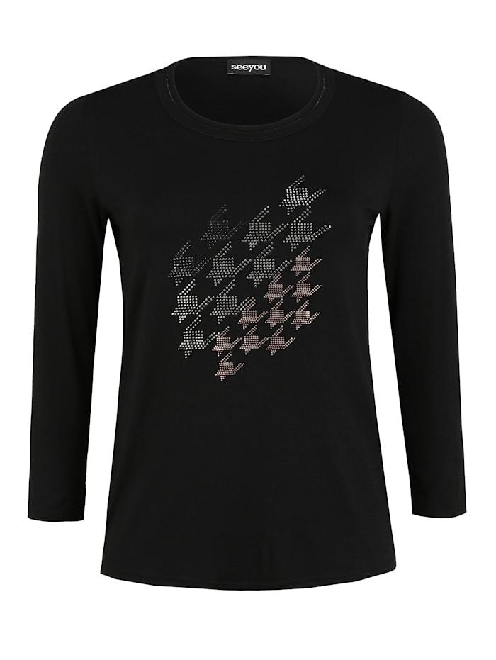 seeyou Shirt mit Glitzer-Details Glitzereffekt, schwarz