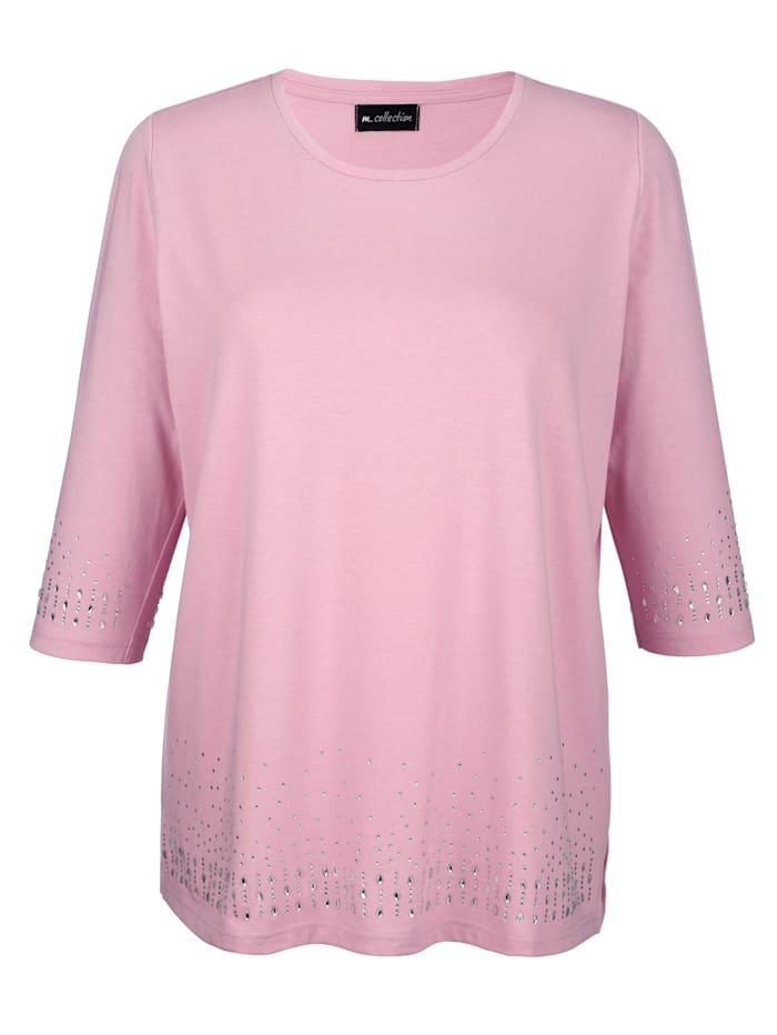 m. collection T-shirt orné de strass, Rose