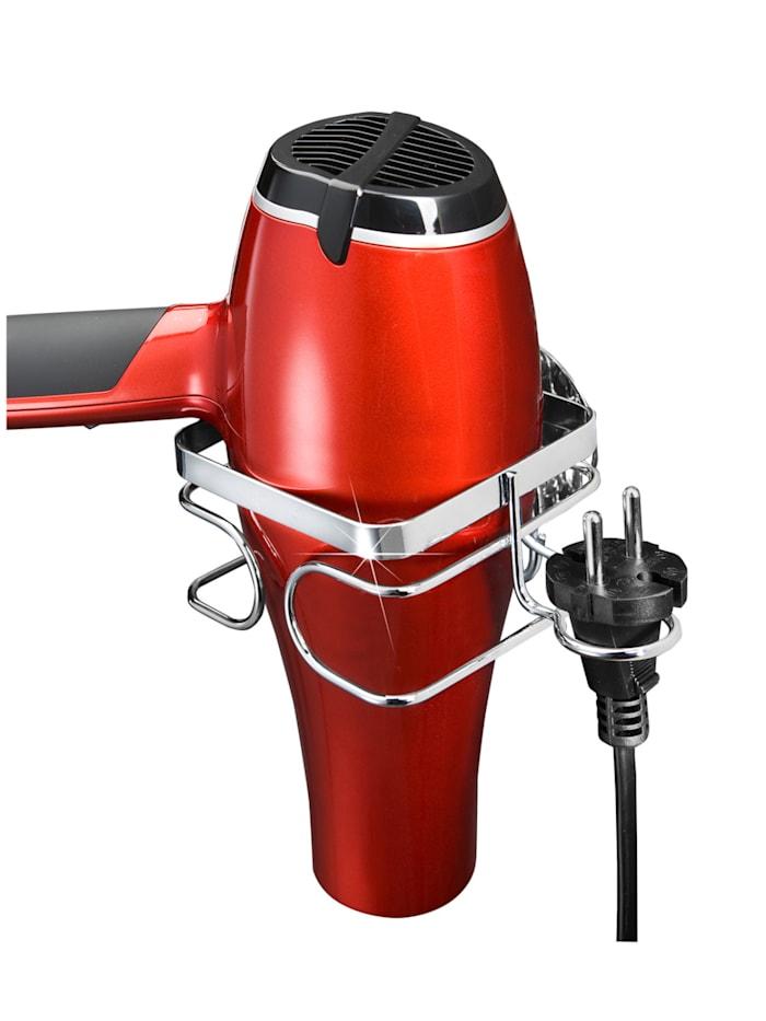 Wenko TurboFIX Edelstahl Haartrocknerhalter , rostfrei, Befestigen ohne bohren, Silber glänzend