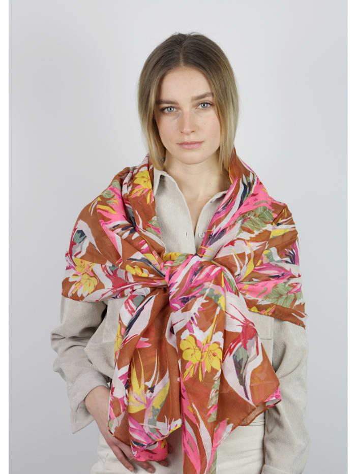 Supersofter Blumen-Schal aus recyceltem Polyester