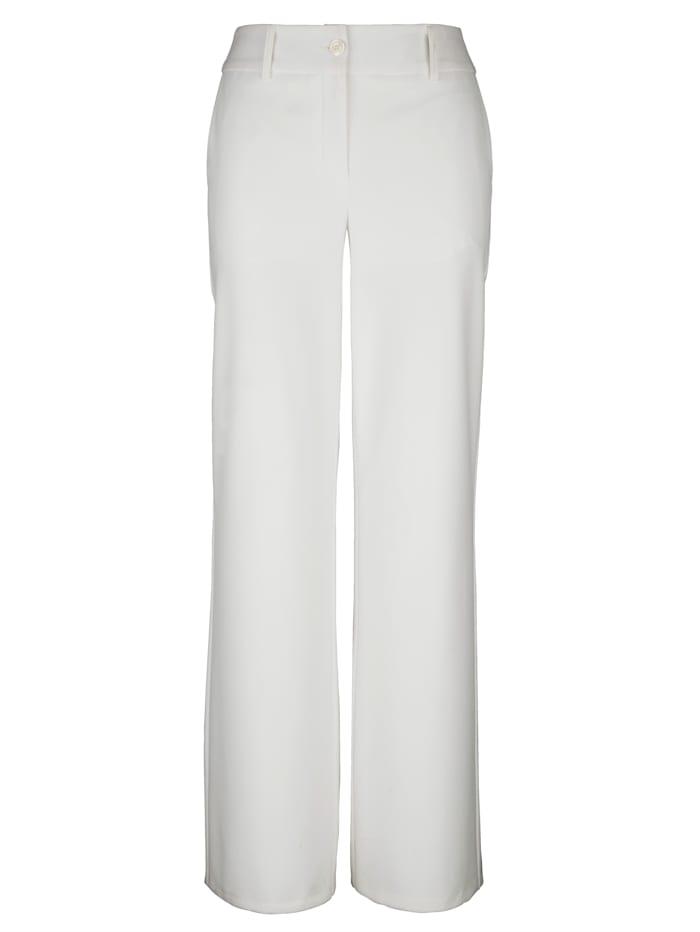 AMY VERMONT Marlenehose mit weitem Bein, Off-white