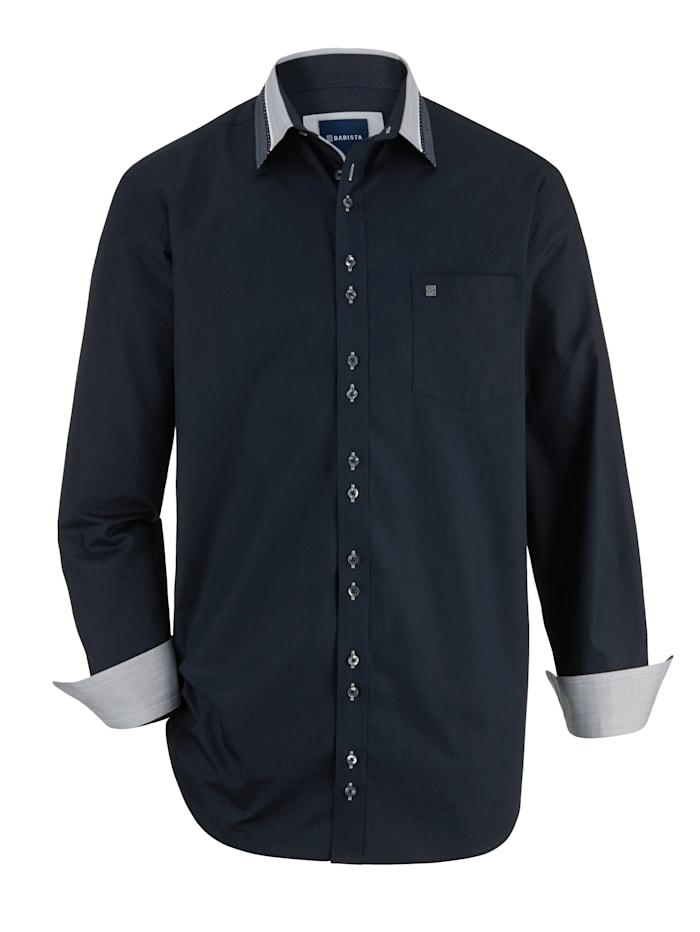 BABISTA Overhemd met luxueuze kraag, Marine