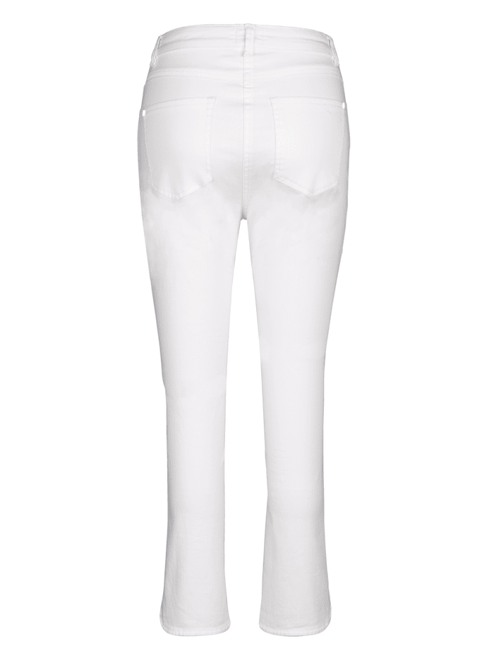 Cropped Trousers with a hint of stretch for ease