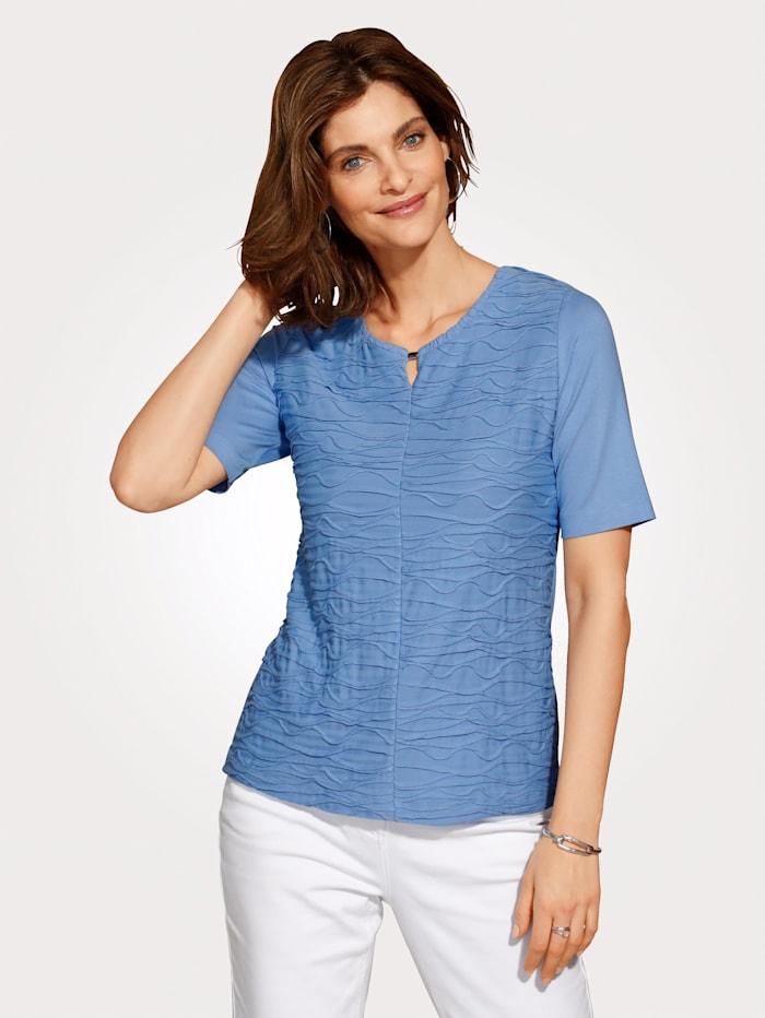 Rabe Shirt mit modischer Biesenstruktur, Blau