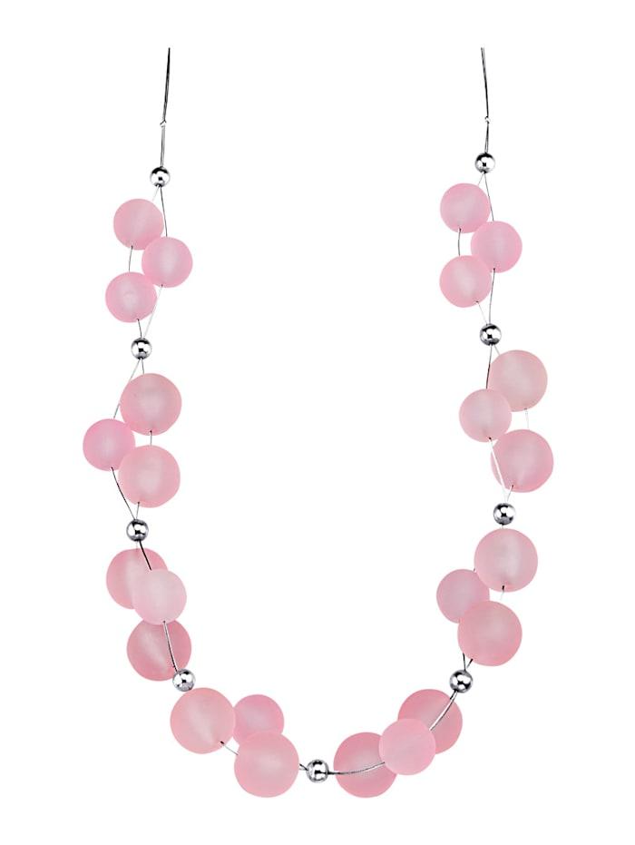 Collier mit roséfarbenen Elementen, Pink