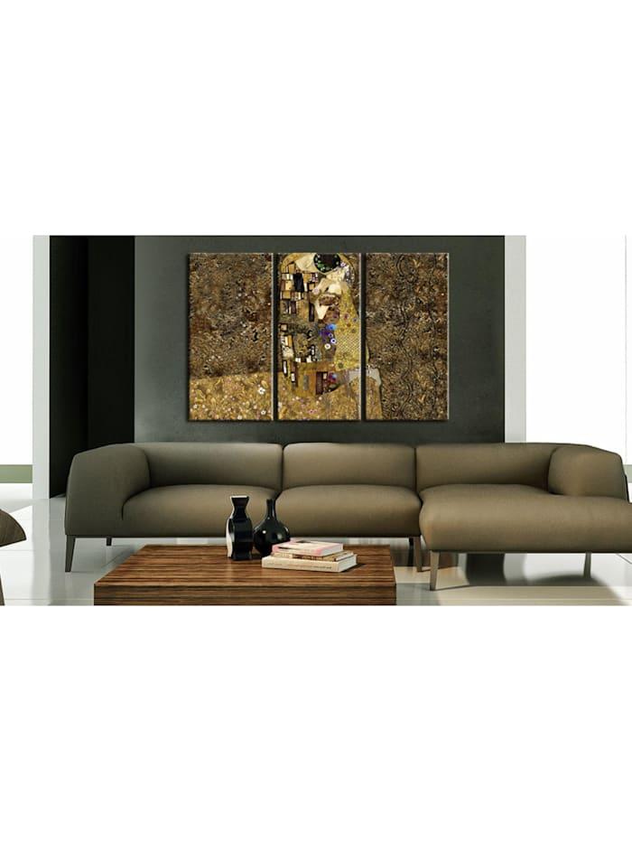Wandbild Klimt Inspiration - Der Kuss