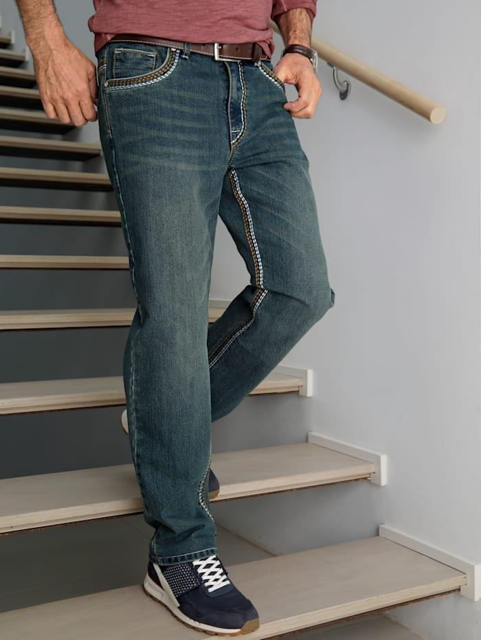 BABISTA Jeans in moderner Used-Optik, Blue bleached