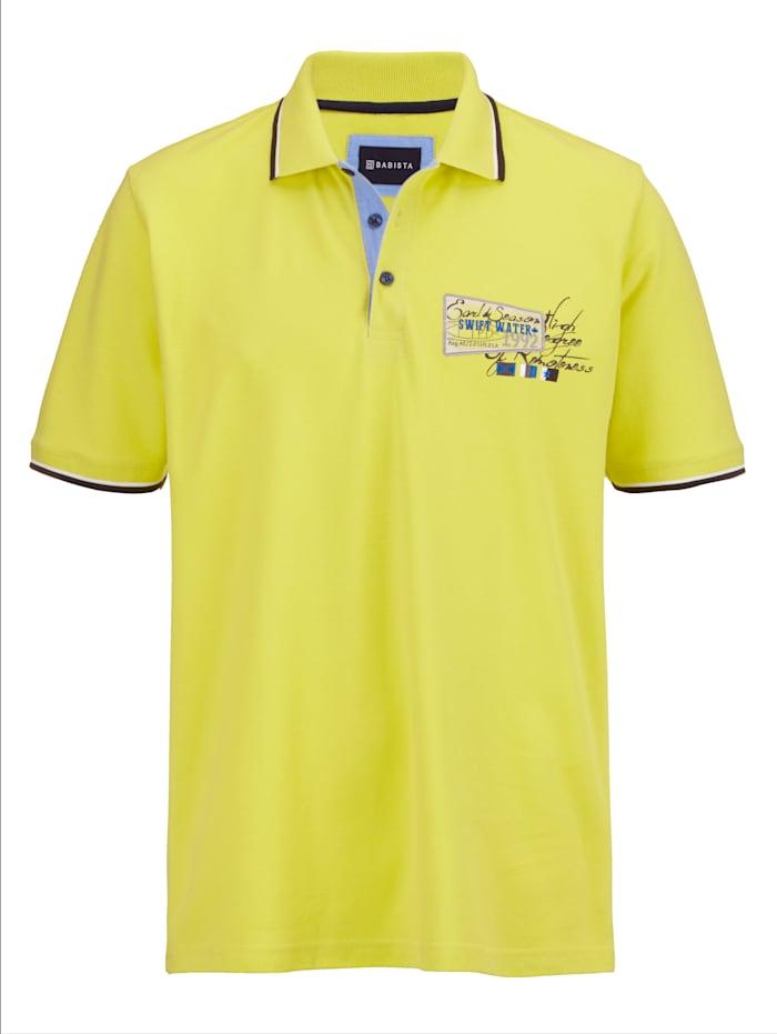 BABISTA Poloshirt in modischem Look, Gelb