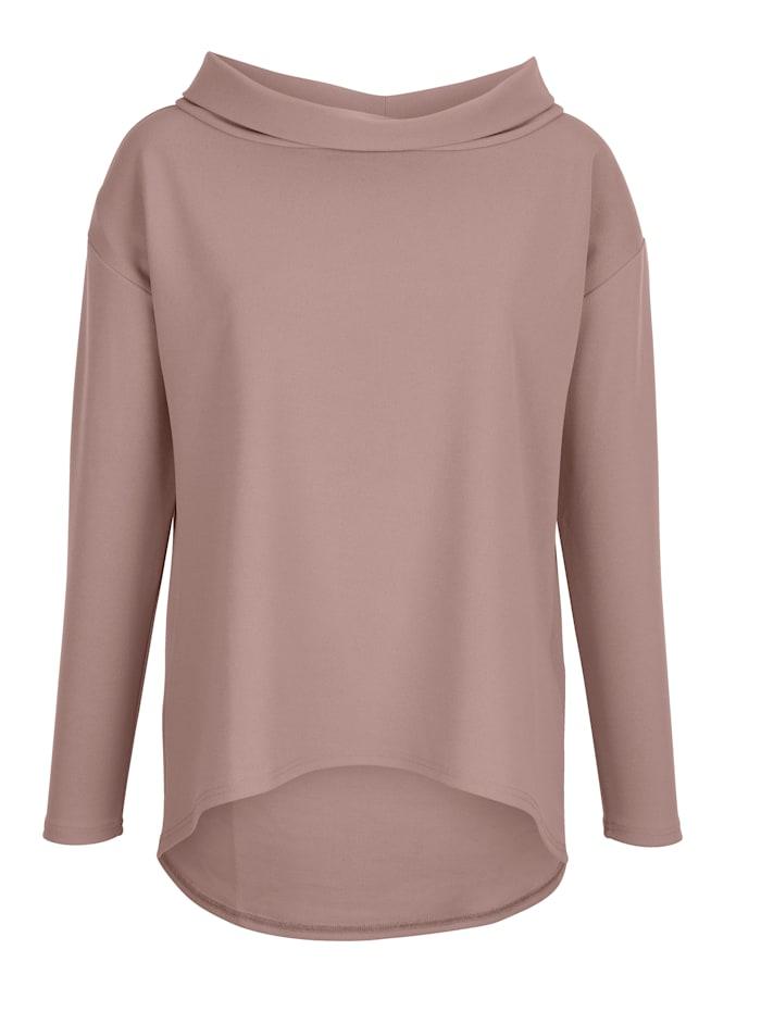 AMY VERMONT Shirt mit modischem Blendenkragen, Altrosa