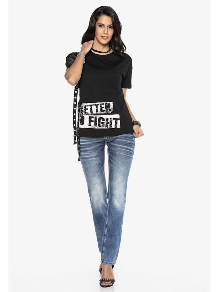 Jeans mit trendiger Used-Waschung