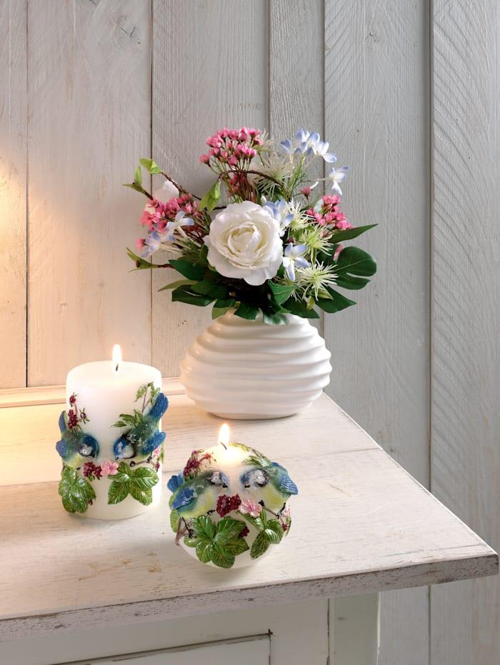 Rosen Arrangement in Vase, Mehrfarbig