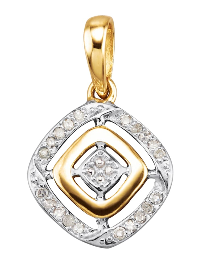 Hänge med diamanter, Guldfärgad