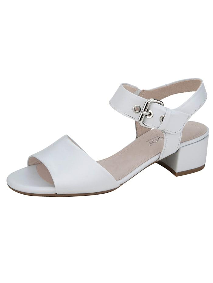 Gabor Sandale mit verstellbarem Fersenriemchen, Weiß
