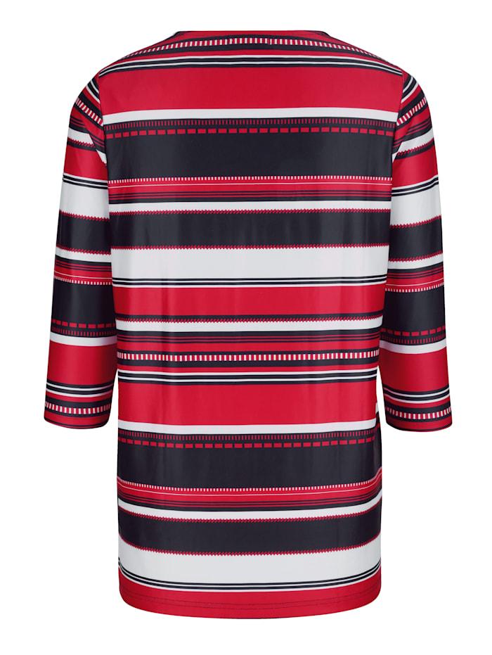 Shirt mit streckendem Muster
