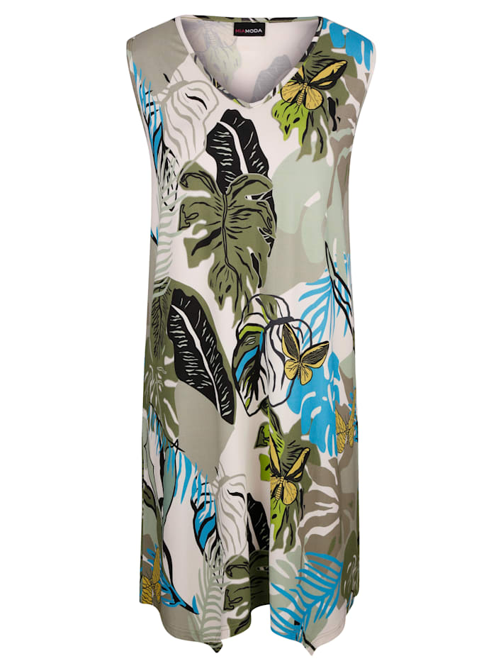 MIAMODA Kleid mit floralem Druck, Multicolor
