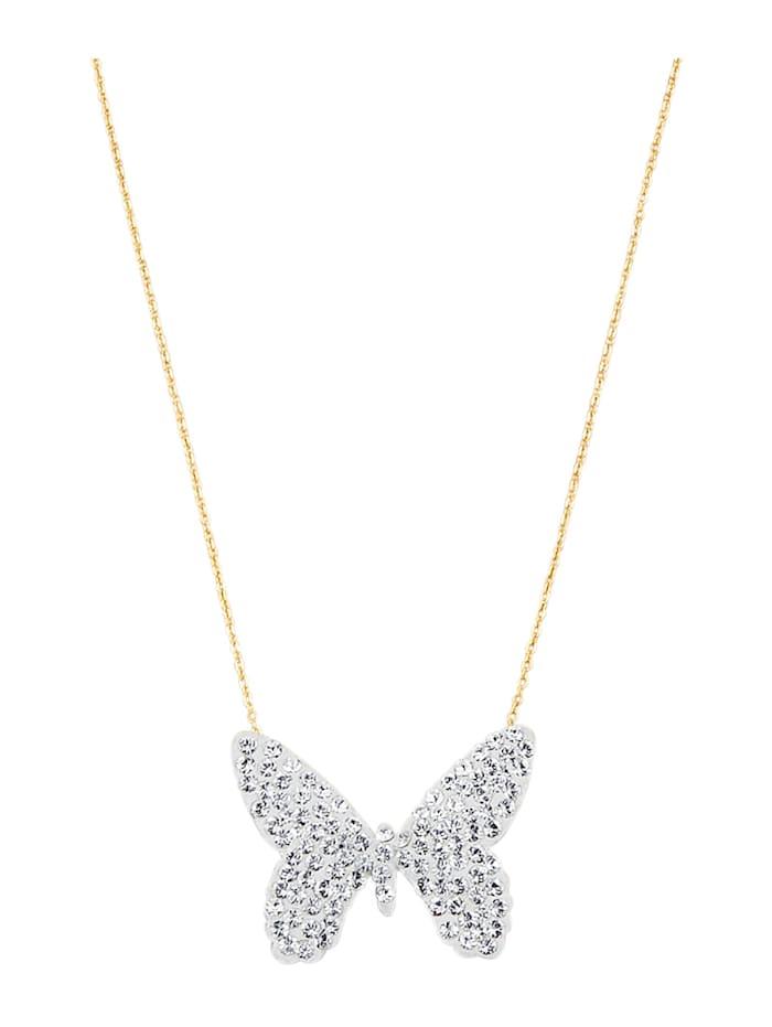 Halsband med fjäril, Guldfärgad