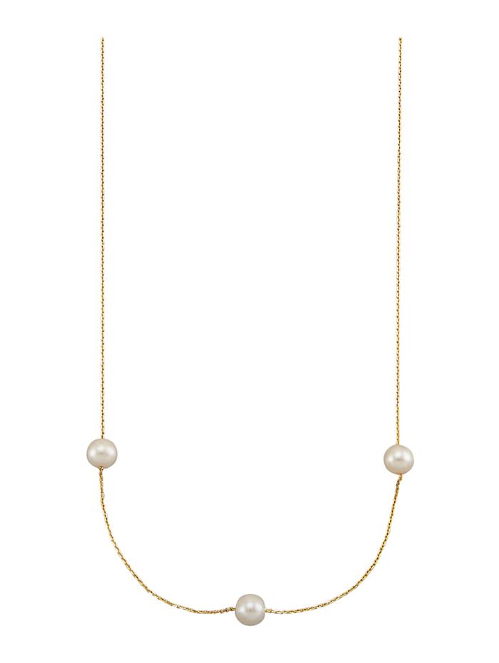 AMY VERMONT Collier Avec perles de culture d'eau douce, Coloris or jaune