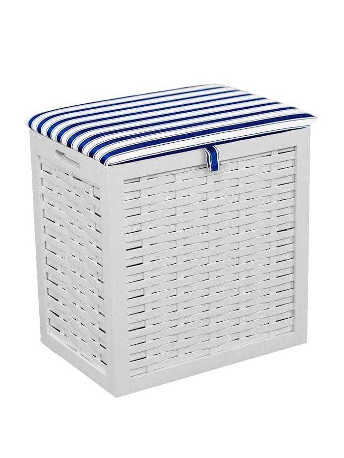 Casamaxx Wäsche-Sitzhocker Pauline, Weiß