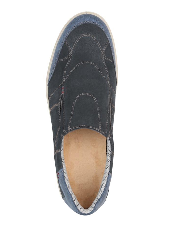 Slipper obuv s kontrastným ozdobným prešívaním