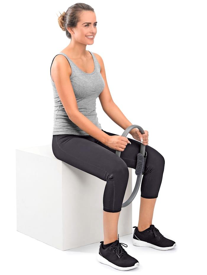 Maximex Anneau Pilates pour un entraînement varié et en douceur, Gris