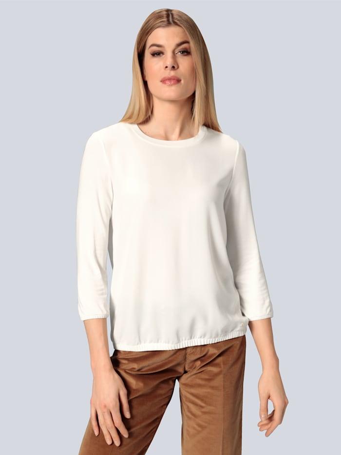 BRAX Shirtbluse im Materialmix, Creme-Weiß