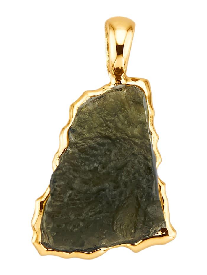 Amara Pierres colorées Pendentif avec 1 moldavite, Vert