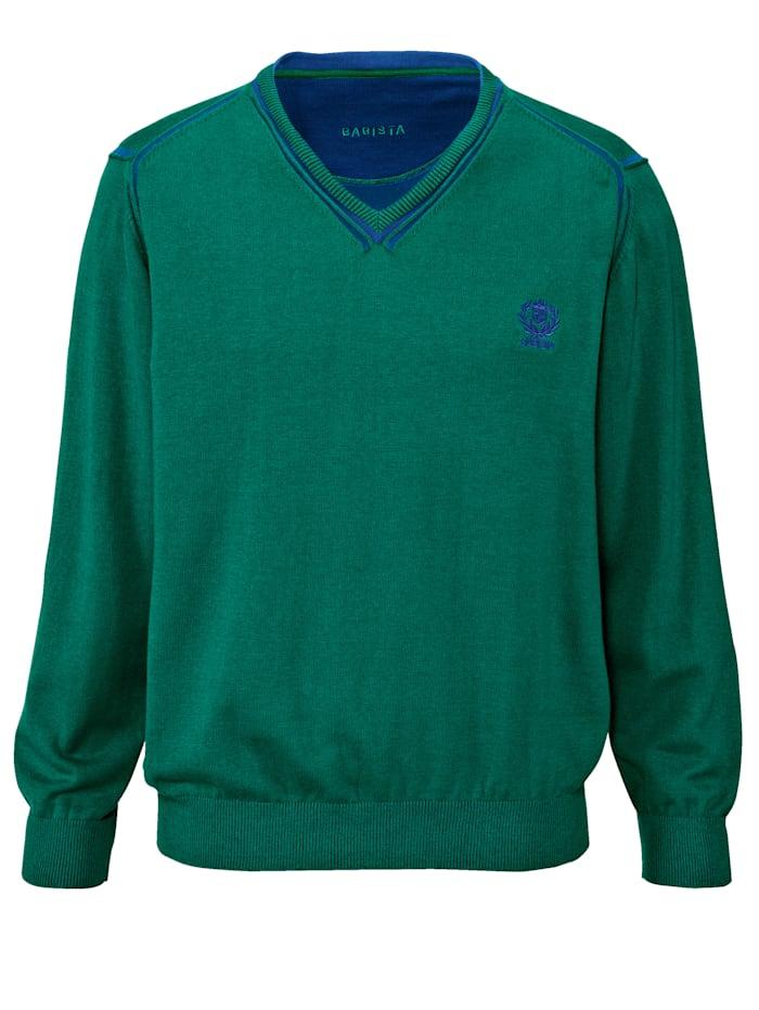 BABISTA Pullover mit zweifarbigen Effekten, Grün/Blau