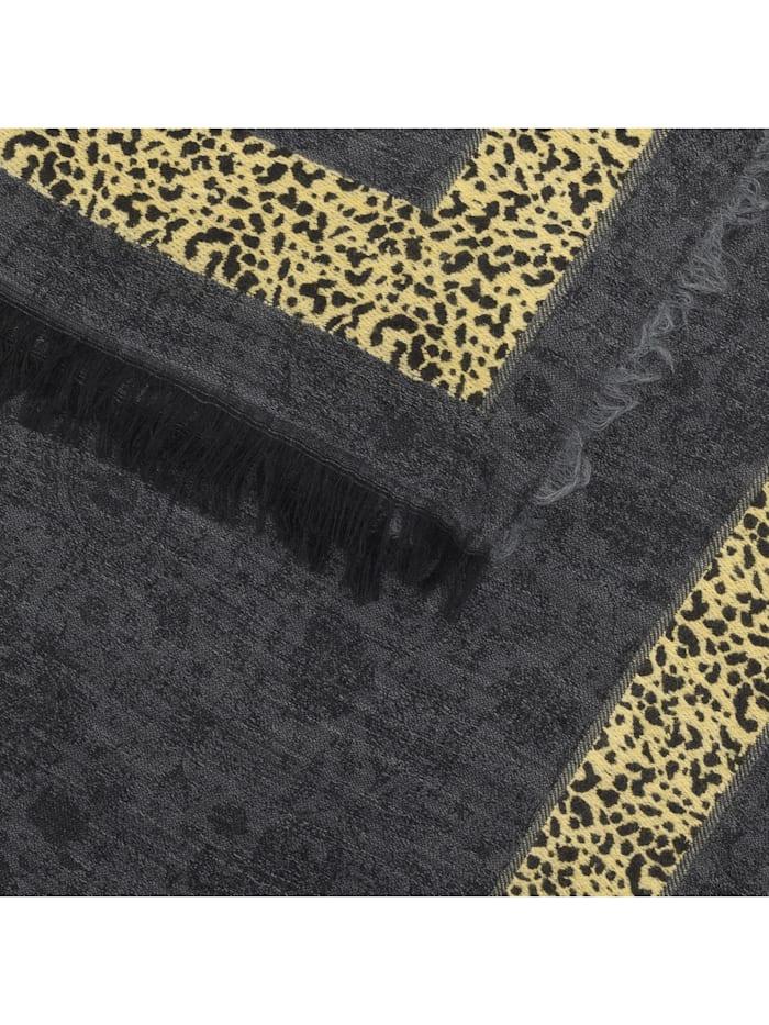 Premium Paisley-Schal mit Leostreifen