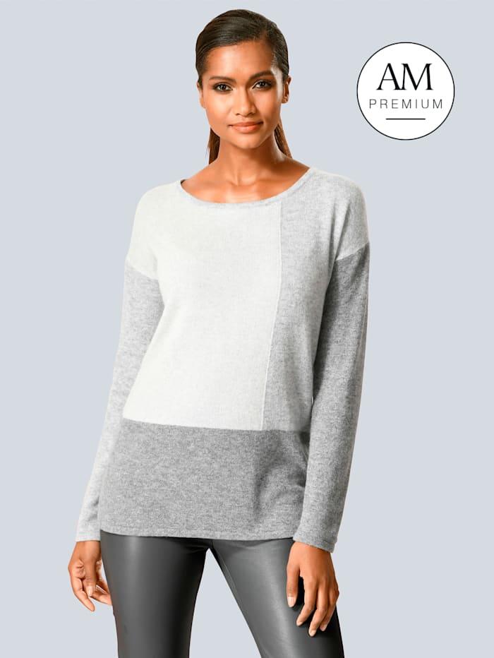 Alba Moda Pullover aus reinem Kaschmir, Grau