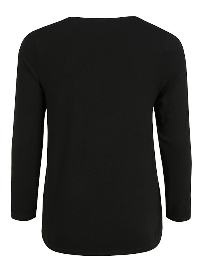 Shirt mit Rundhalsausschnitt Kontrastverarbeitung