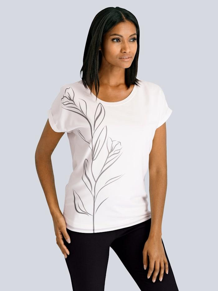 Shirt mit schöner Blütenranke
