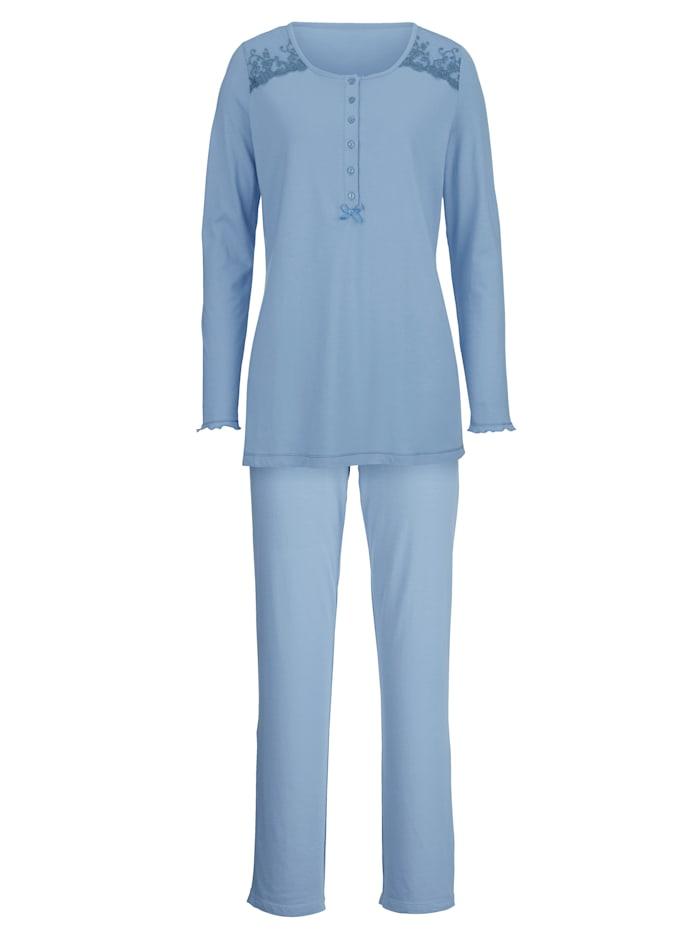 Harmony Pitsisomistettu pyjama, vaaleansininen