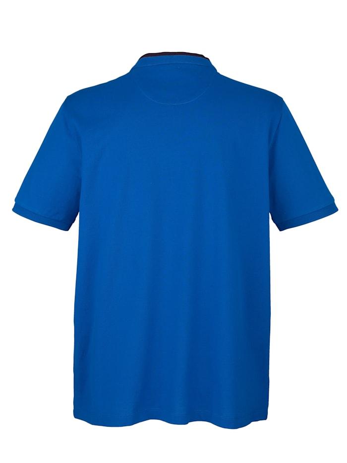T-shirt met opstaande kraag en knoopsluiting