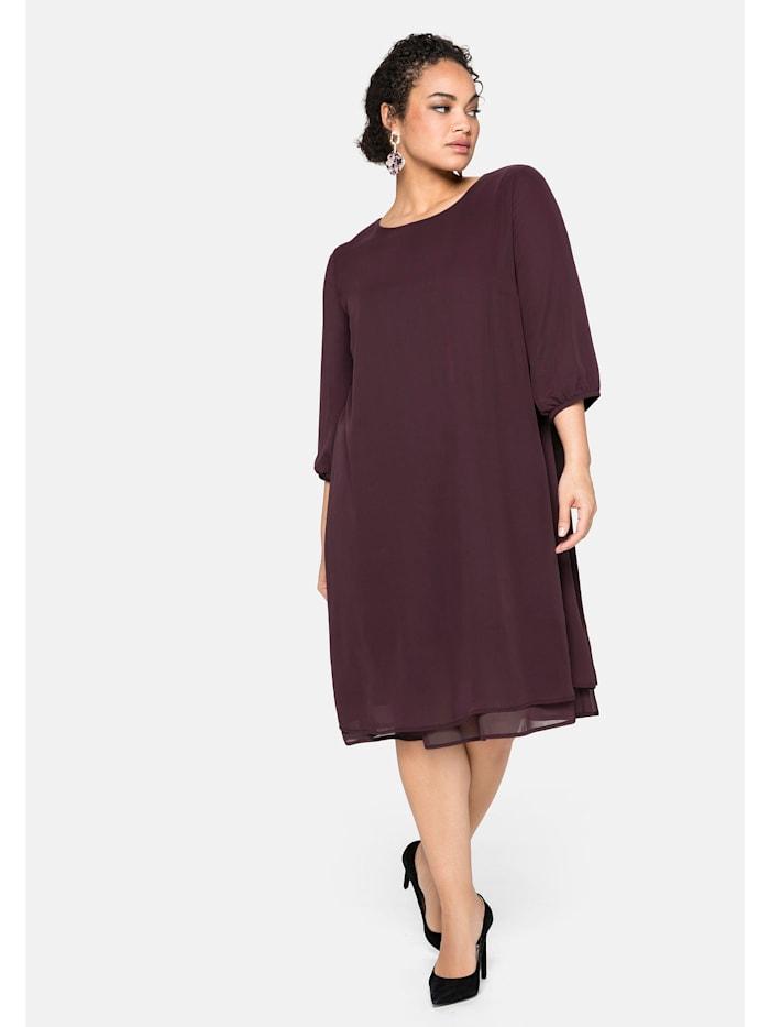 Sheego Kleid in Lagen-Optik, burgund