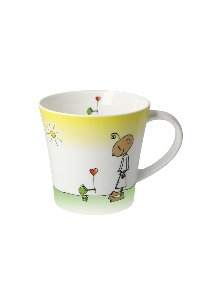 "Goebel Goebel Coffee-/Tea Mug Der kleine Yogi - ""Glücklich"", Bunt"