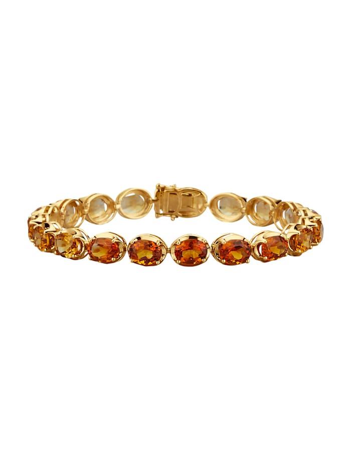 Diemer Farbstein Armband, Geel