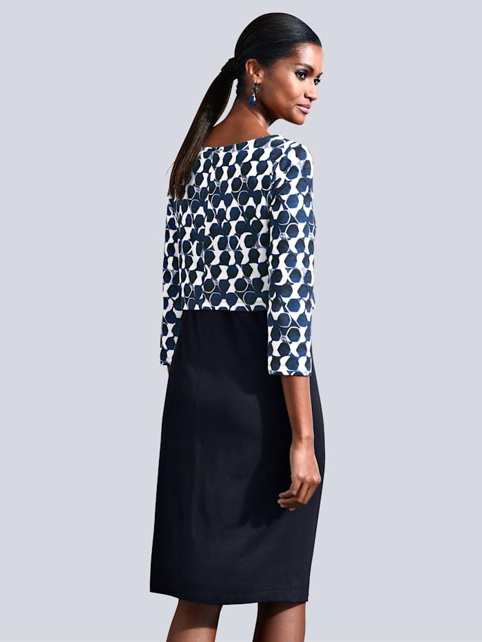 Kleid mit grafischem Punkte-Druck