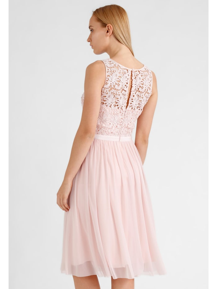 Kleid mit Corsage und Schlitz am Rücken