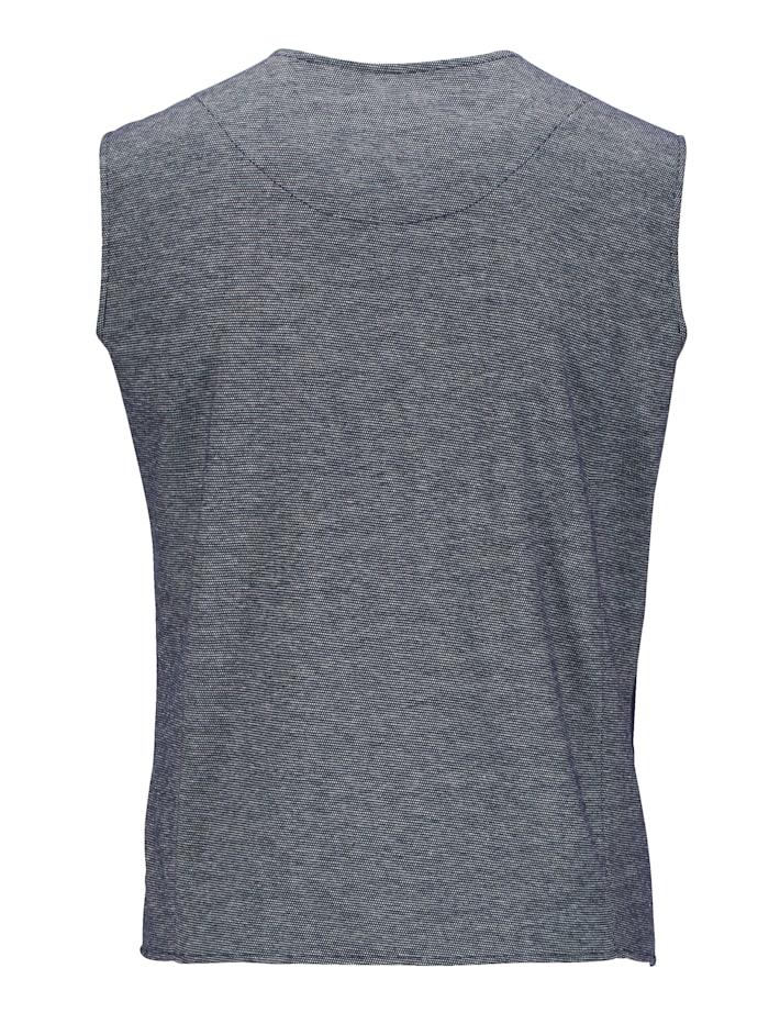 Veste molletonnée sans manches de coupe tendance