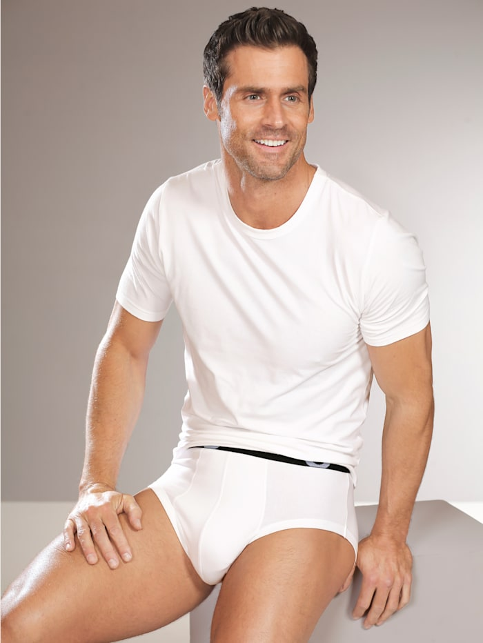 G Gregory Cityshirt aus PIMA Cotton mit Halbarm, Schwarz/Weiß