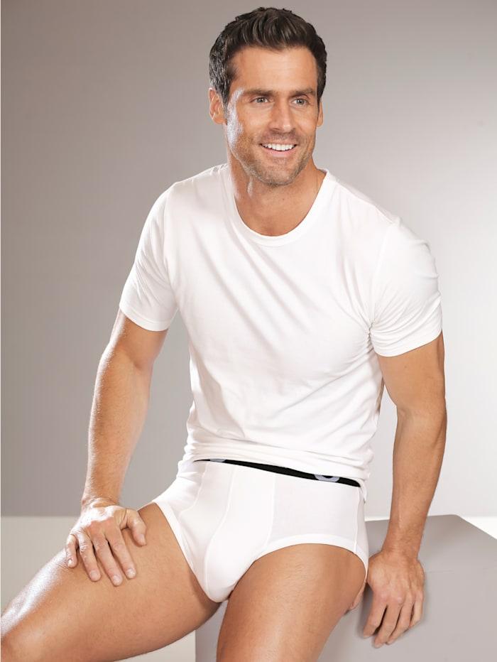 Shirt van Pima-katoen met korte mouwen