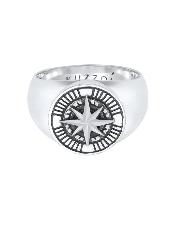Ring Herren Siegelring Kompass Maritim 925 Silber