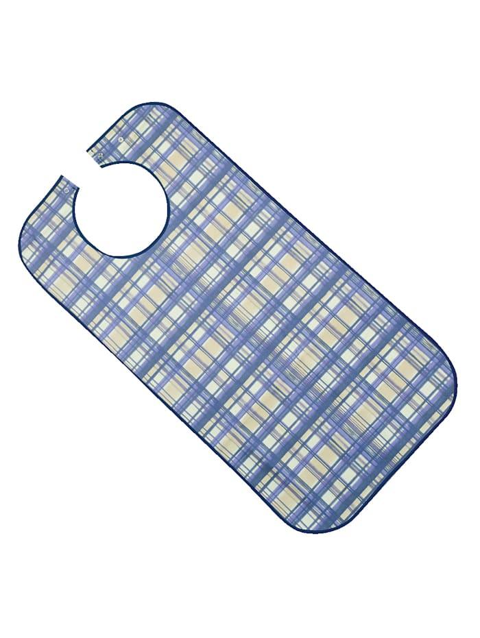 Suprima XL-slab van polyester, blauw geruit