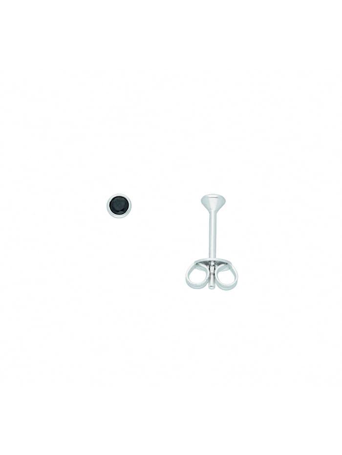 1001 Diamonds Damen Silberschmuck 925 Silber Ohrringe / Ohrstecker mit Zirkonia Ø 2,9 mm, bunt