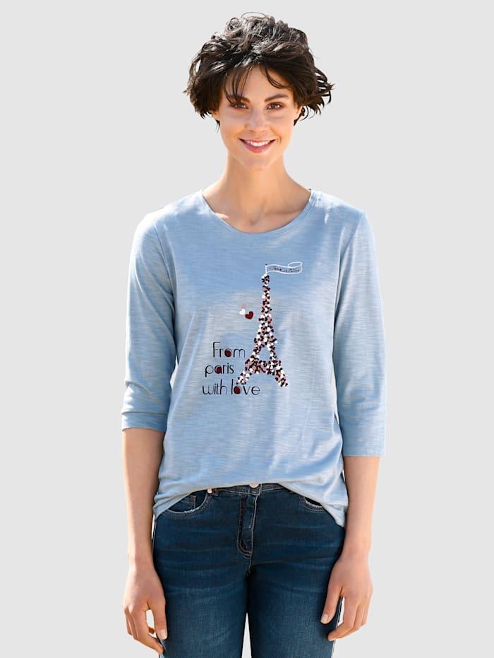 Dress In Topp med tryckt mönster, Blå