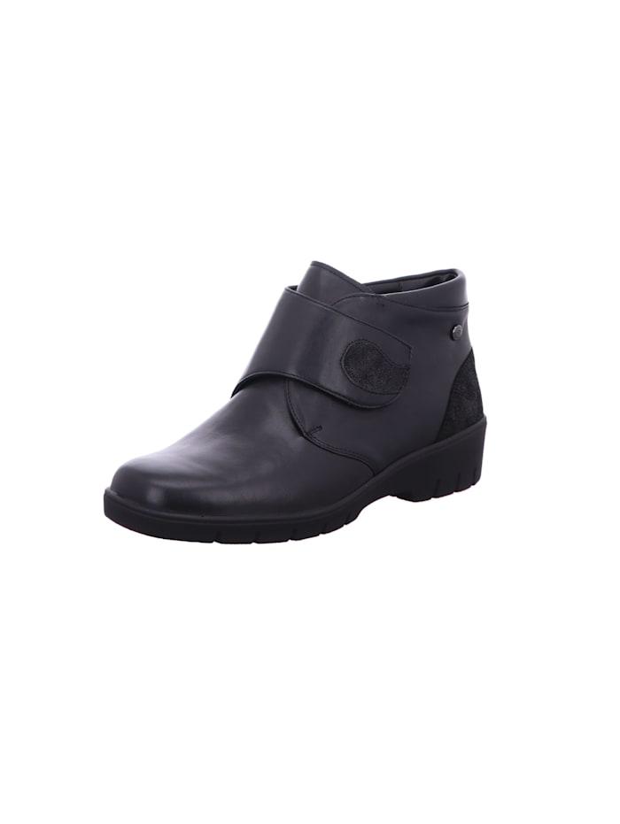Solidus Damen Stiefelette in schwarz, schwarz