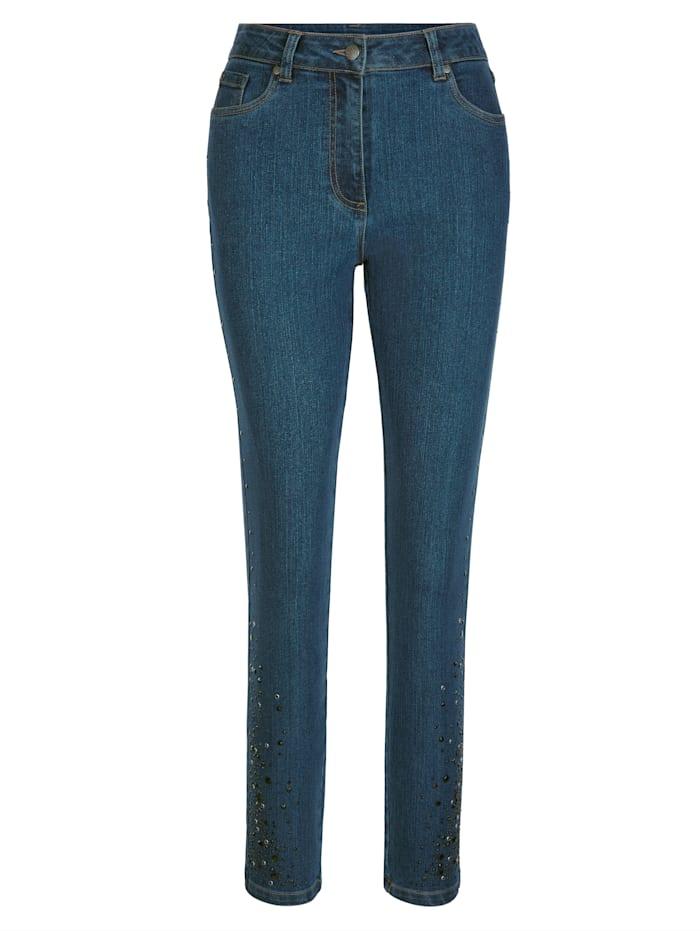 Jeans mit seitlichem Steinbesatz