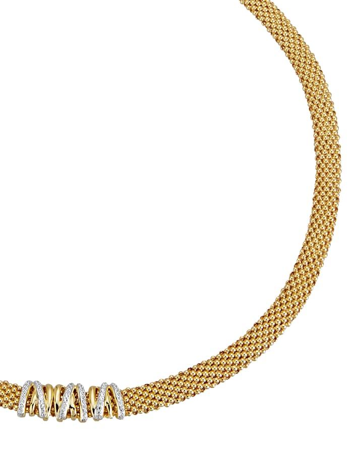 Diemer Silber Halsband, Guldfärgad